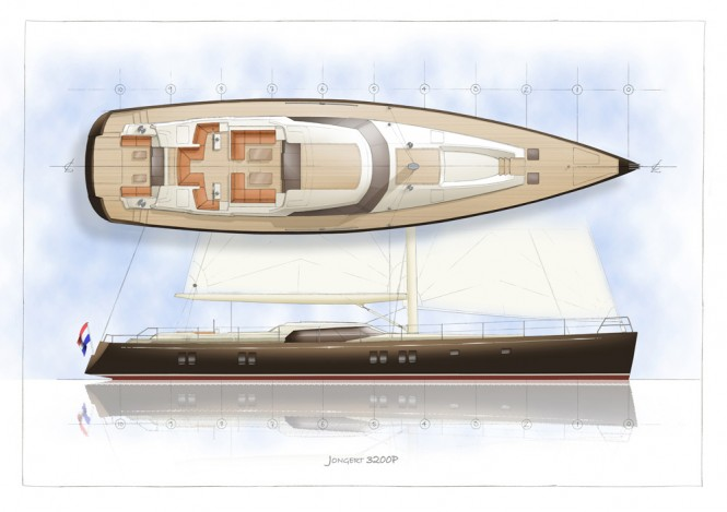 Jongert 3200P Yacht - Profile deck
