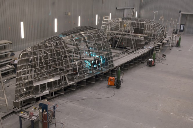 Jongert 3200P Yacht under construction