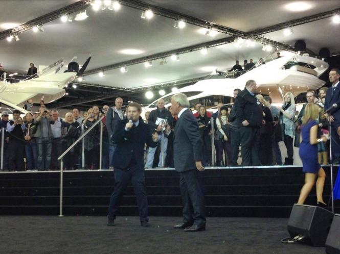 Launch of Sunseeker 75 Yacht during the London Boat Show 2014
