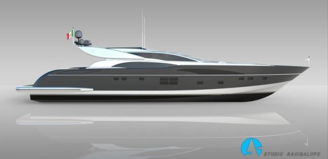 Leopard 36m Sportfly superyacht - side view