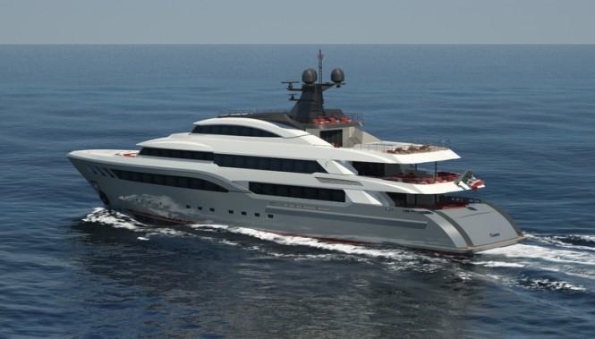 Luxury motor yacht Hull C04 - aft view