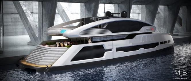 Luxury motor yacht Su-36 concept