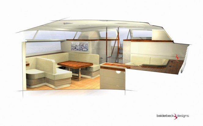 Luxury yacht Bd80 - Salon