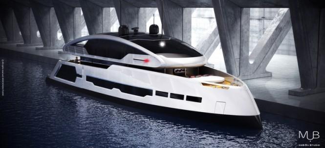 Luxury yacht Su-36 concept