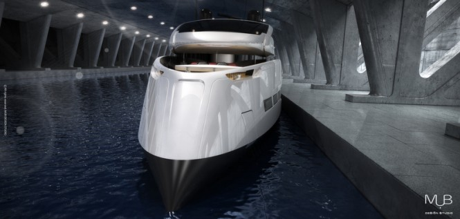 Motor yacht Su-36 concept - front view