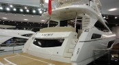 New Sunseeker 75 Yacht on display at the 2014 London Boat Show