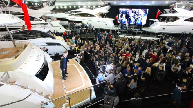 Official launch of Sunseeker 75 Yacht at the 2014 London Boat Show