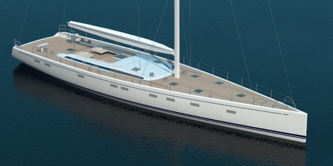 Rendering of Swan 115 FD Yacht - Image credit to Nautor's Swan