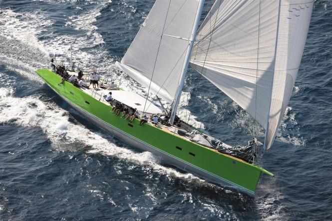 Sailing yacht Inoui from above - Photo by Gianfranco Forza