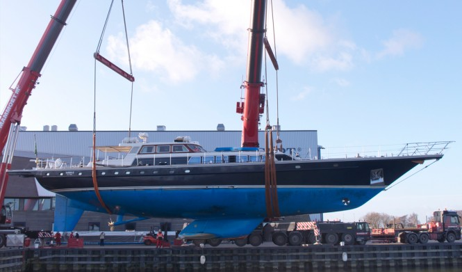 Sailing yacht Tamer 2 - side view