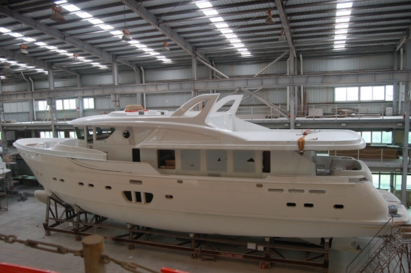 Selene 92 Ocean Explorer Yacht under construction at Selene Yachts