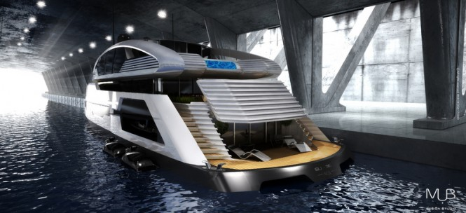 Su-36 Yacht Concept - aft view