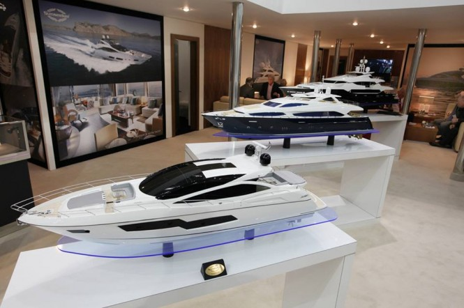 Sunseeker Stand at the 2014 London Boat Show