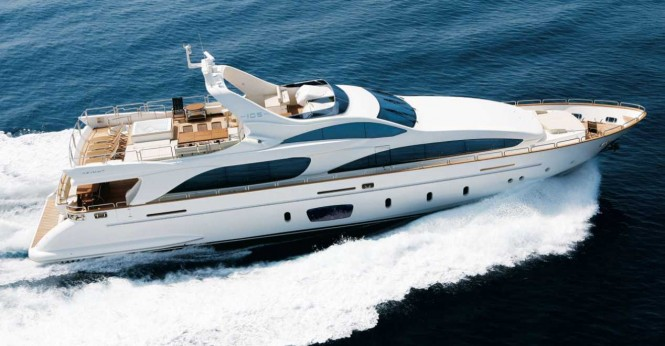 Superyacht Azimut 105 - the largest vessel to be displayed at PIMEX 2014 - Image Courtesy of Azimut Yachts