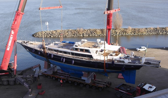 Tamer II Yacht from above