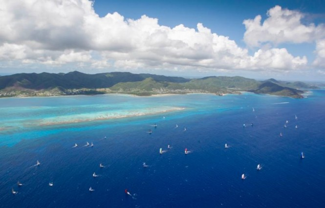 The best view of Antigua: The Yachting World Round Antigua Race - Saturday, April 26, 2014 - Credit: Paul Wyeth/pwpictures.com