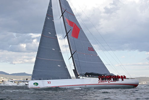 Superyacht Wild Oats XI at the 2013 Rolex Sydney Hobart Race - Photo by Meredith Block