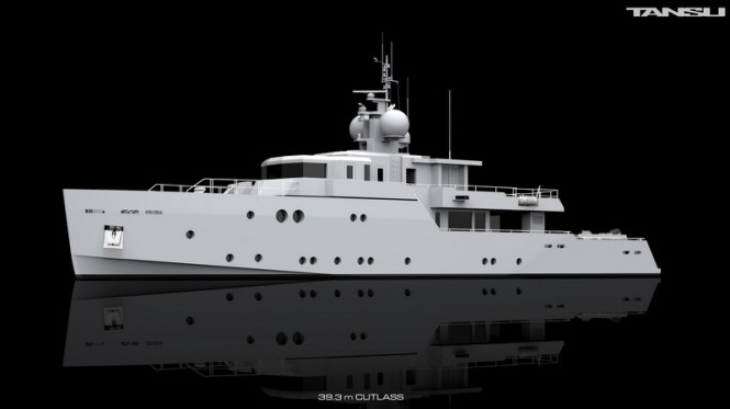 39.3m superyacht Project Cutlass by Tansu Yachts