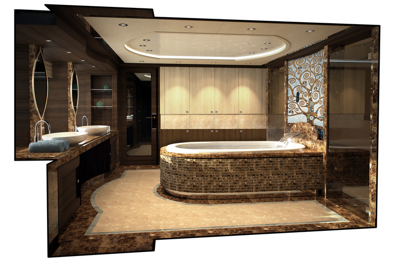 Luxury Yacht MARGARITA Owners Bathroom Luxury Yacht Charter