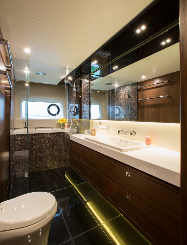 Princess luxury yacht S72 - Owners Bathroom