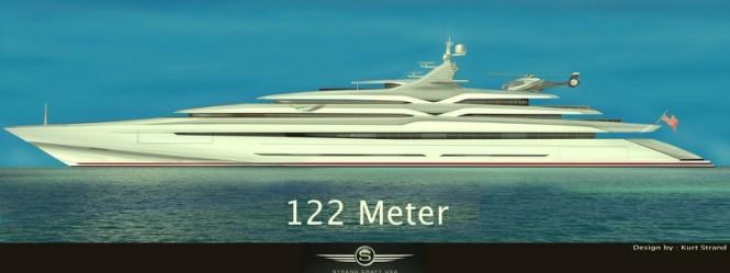 122m mega yacht THUNDERBIRD project by Strand Craft Yachts USA