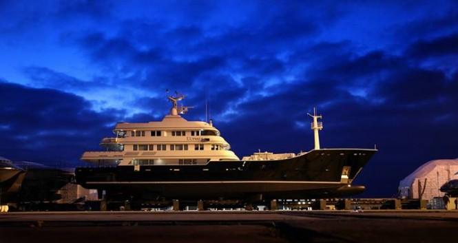 59m Trinity superyacht Grand Rusalina (ex Ulysses) at Monaco Marine