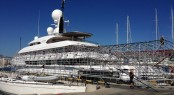 74m Amels superyacht Ilona under refit at STP