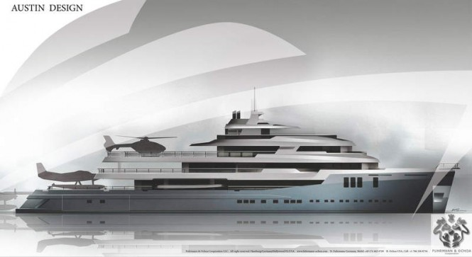 74m explorer yacht AUSTIN design concept with interior by Studio Haak