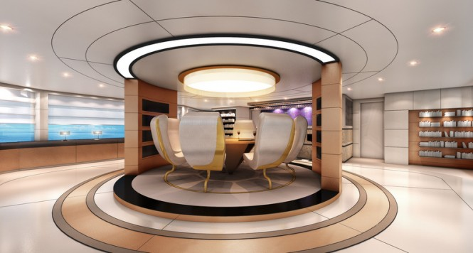 Austin Yacht Concept - Rotating floor in the main saloon