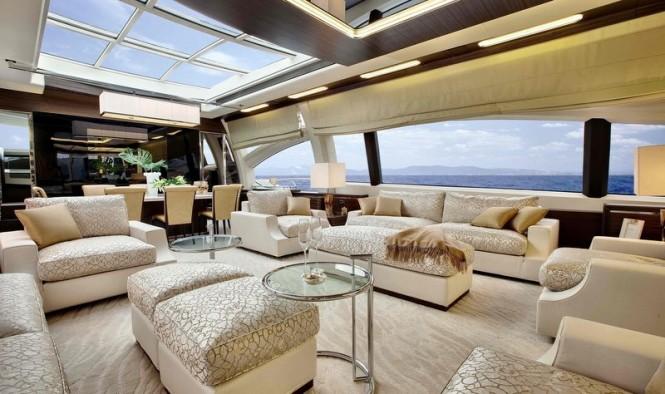 Azimut Grande 120SL Yacht Hull no. 3 - Saloon