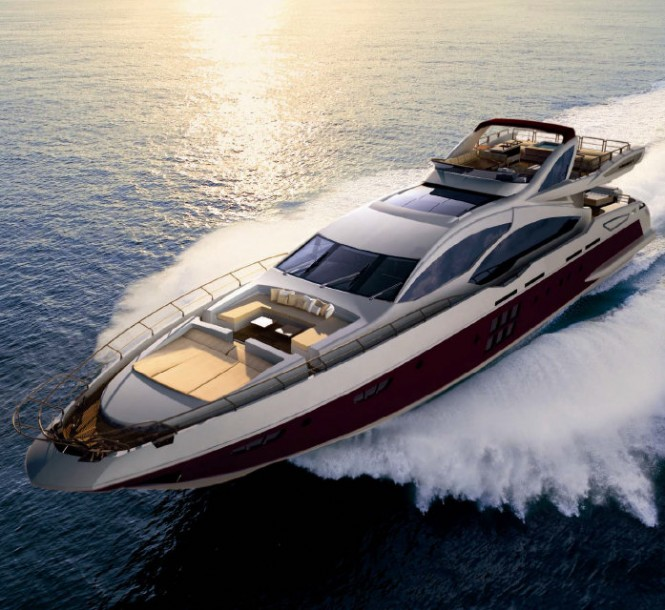Azimut Grande 120SL Yacht Hull no. 3 from above