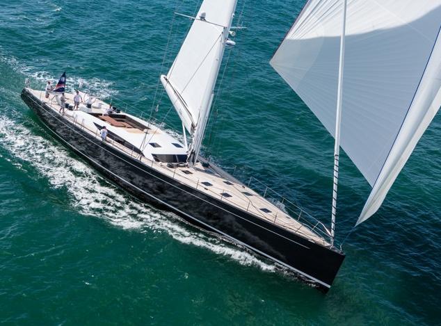 Baltic 107 yacht INUKSHUK sailing