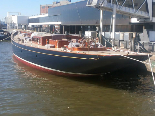 Dona Francisca Yacht on the water