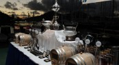 An impressive array of silverware, barrels & decanters of English Harbour Rum, medallions and other prizes await winners in the 6th RORC Caribbean 600 starting in Antigua on Monday 24th February - Credit: Tim Wright/photoaction.com