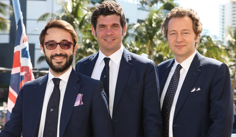 From left Tommaso Bilotta-Fabrizio Scherch-Alberto Perrone da Zara