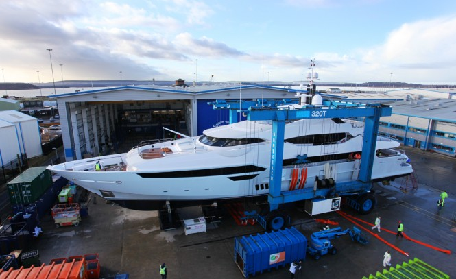 Luxury motor yacht '155 Yacht' by Sunseeker International ready for launch