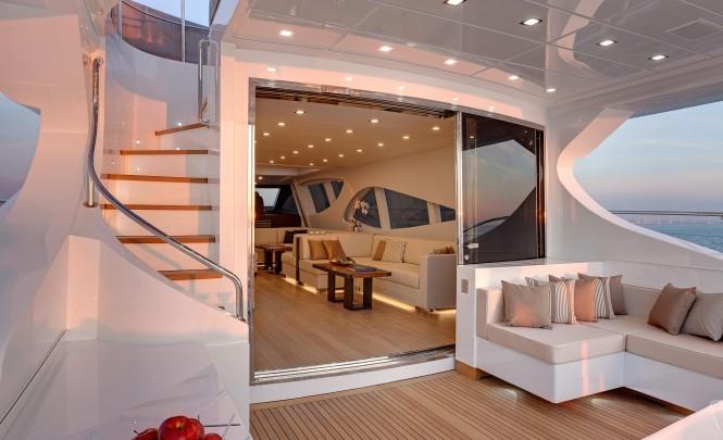Luxury motor yacht Mangusta 110