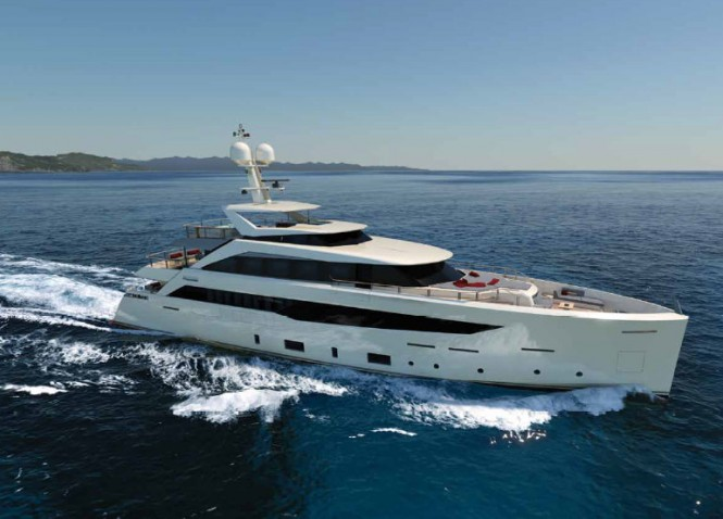 Luxury motor yacht Project SF40 - side view