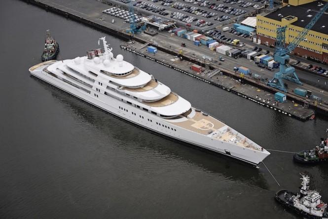 Luxury superyacht AZZAM - Photo by Klaus Jordan