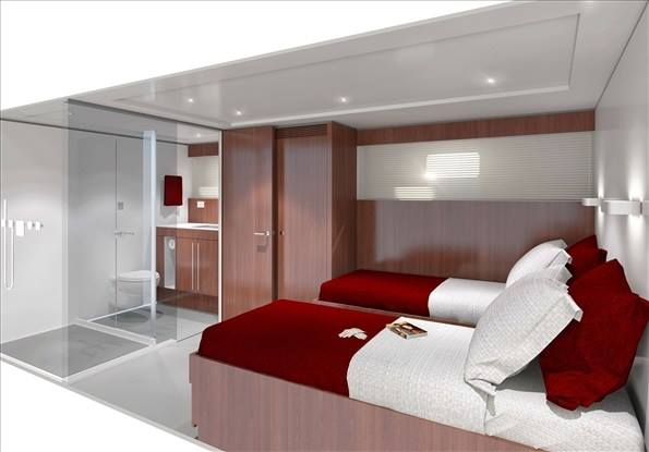 Luxury yacht Project YXT One - Cabin