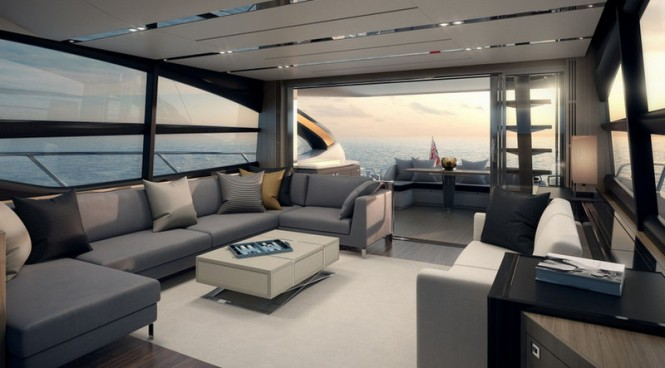 Luxury yacht S72 by Princess - Interior