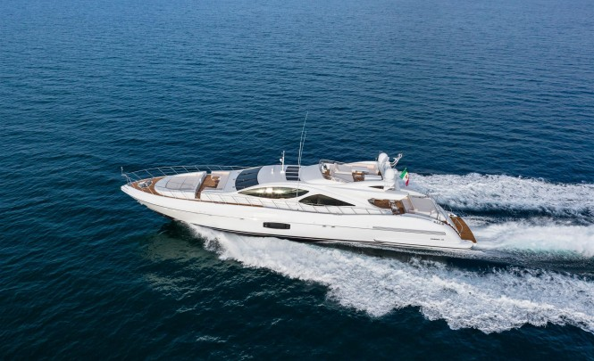 Mangusta 110 Yacht from above