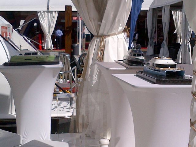 Models of NISI yachts on display at the event