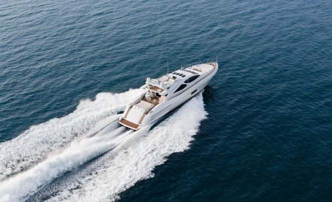 Motor yacht Mangusta 110 - aft view