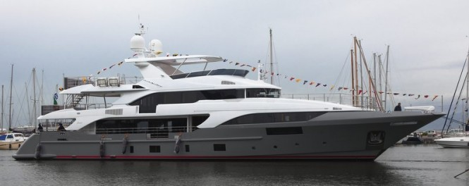 Newly launched motor yacht BS003 by Benetti