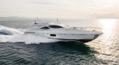 Overmarine superyacht Mangusta 110 at full speed
