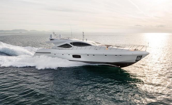 Overmarine superyacht Mangusta 110 at full speed