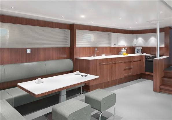 Project YXT One Yacht - Galley