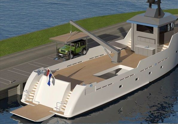 Project YXT One superyacht - aft view