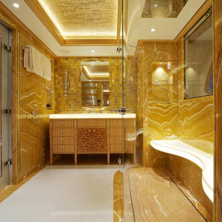 Solandge superyacht vip starboard head yacht charter for Bathroom designs hobart